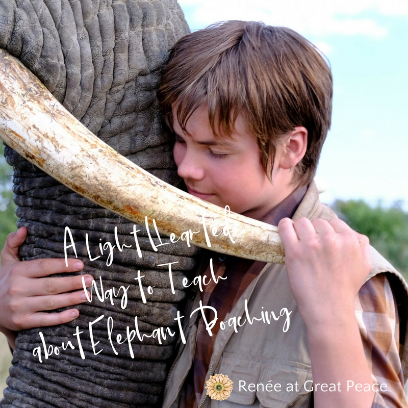 Teaching Homeschoolers about the Elephant Poaching Crisis with a Family Friendly Film | Renée at Great Peace #homeschool #savethelephants #elephantconservation #ihsnet