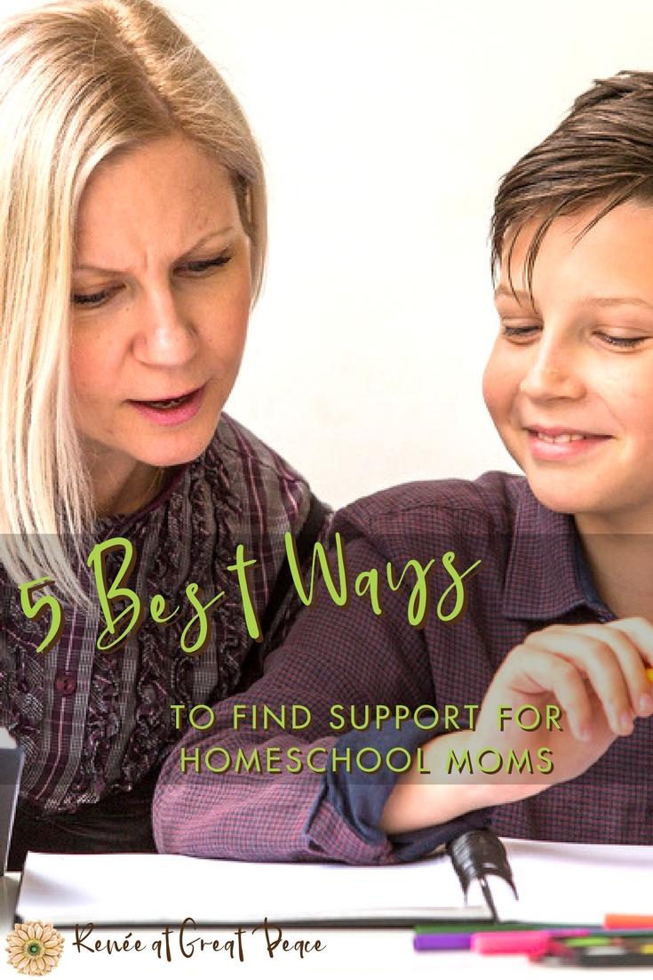 5 Best Ways to Find Homeschool Mom Support | Renée at Great Peace #homeschool #homeschooling #homeschoolmoms #ihsnet