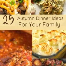 25 Autumn Dinner Ideas for your Family | Renée at Great Peace #mealplanning #autumndinnerideas #dinner