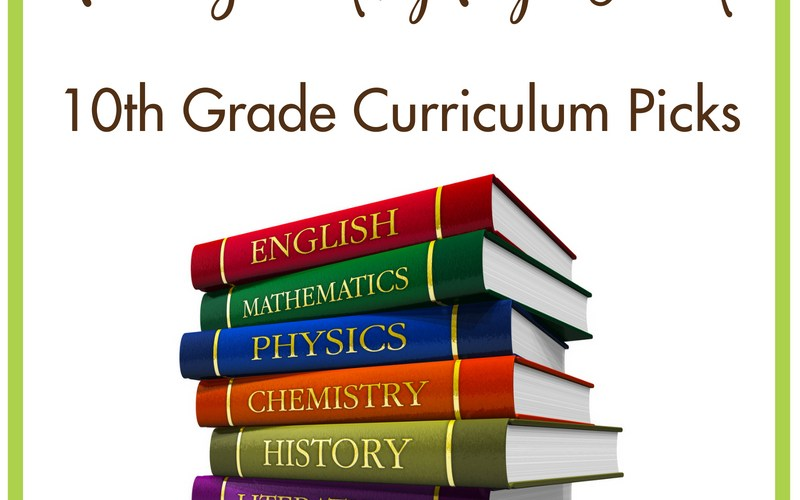 Homeschooling 10th Grade High School Curriculum Picks | Renée at Great Peace #homeschool #ihsnet