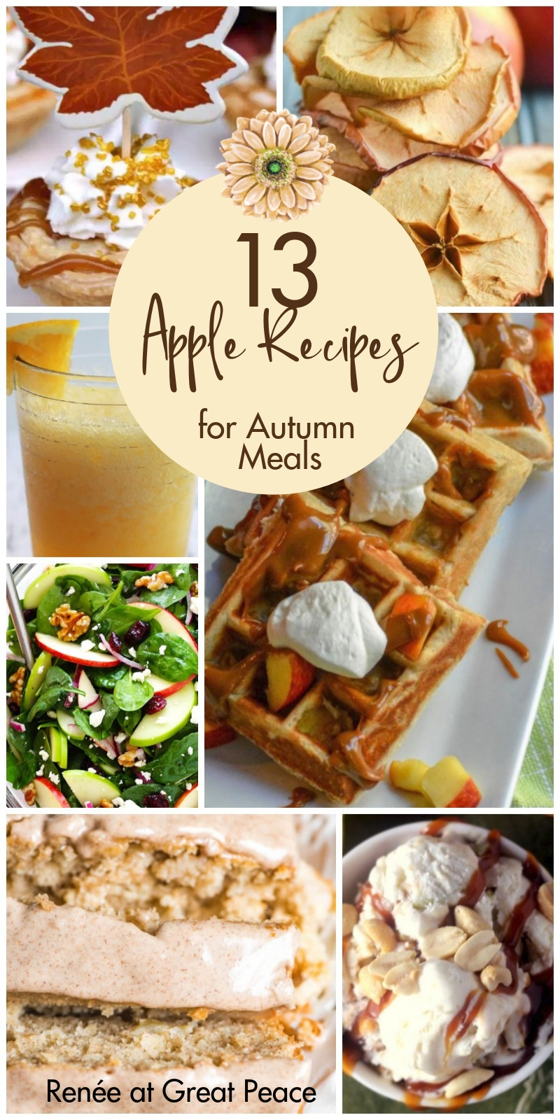 13 Apple Recipes for Autumn Meals | Renée at Great Peace #mealplanning #autumn #fallrecipes