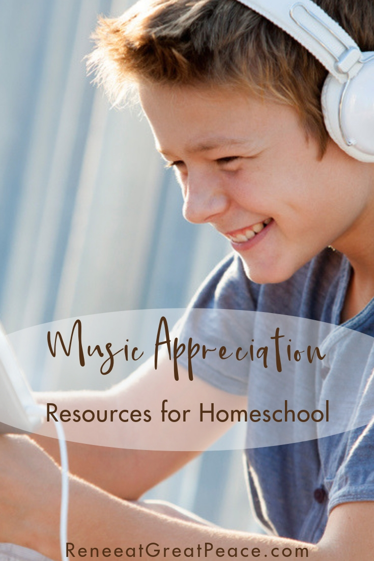 Music Appreciation Resources for Homeschool | Renée at Great Peace #homeschool #musicappreciation #ihsnet