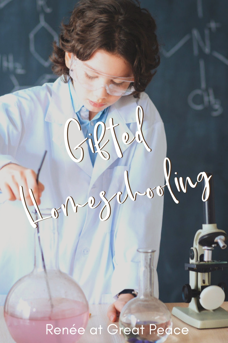 Gifted Homeschooling for the Overwhelmed Mom | Renée at Great Peace #gifted #homeschooling #ihsnet #gtchat