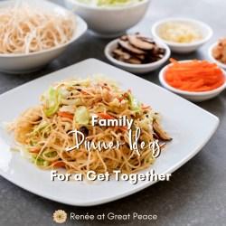 Family Dinner Ideas for a Get Together | Renée at Great Peace #mealplanning #familydinner #familydinnerideas #dinner #ihsnet