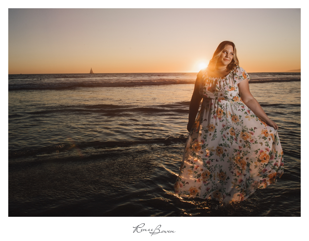 gen z blog flower dress sunset