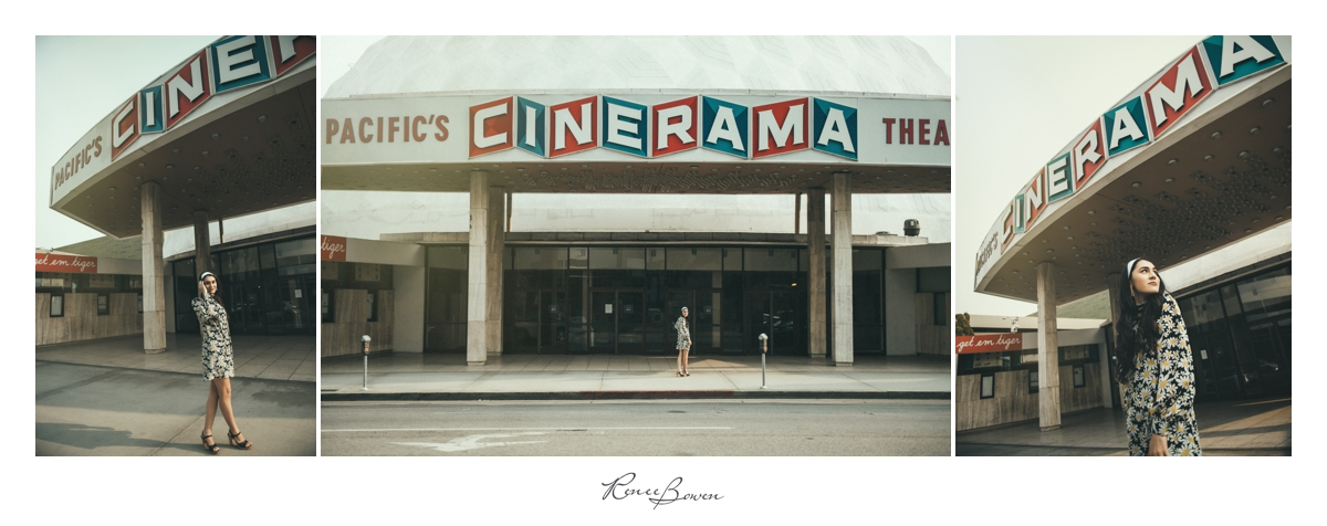 girl in front of cinerama dome hollywood