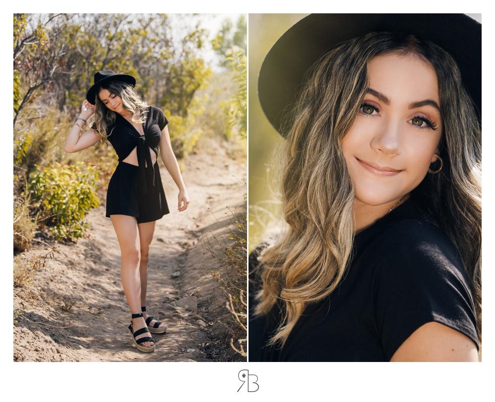 girl in outdoor setting wearing hat Renee Bowen Seniors