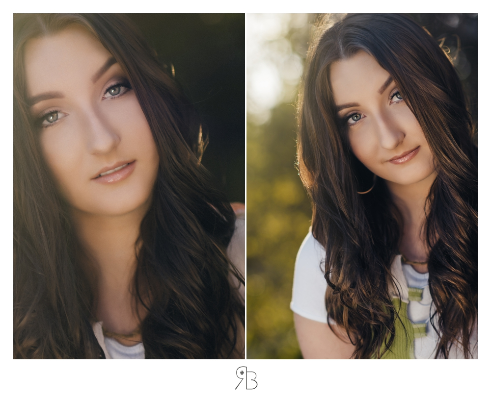 close up of girl with some back lighting renee bowen seniors