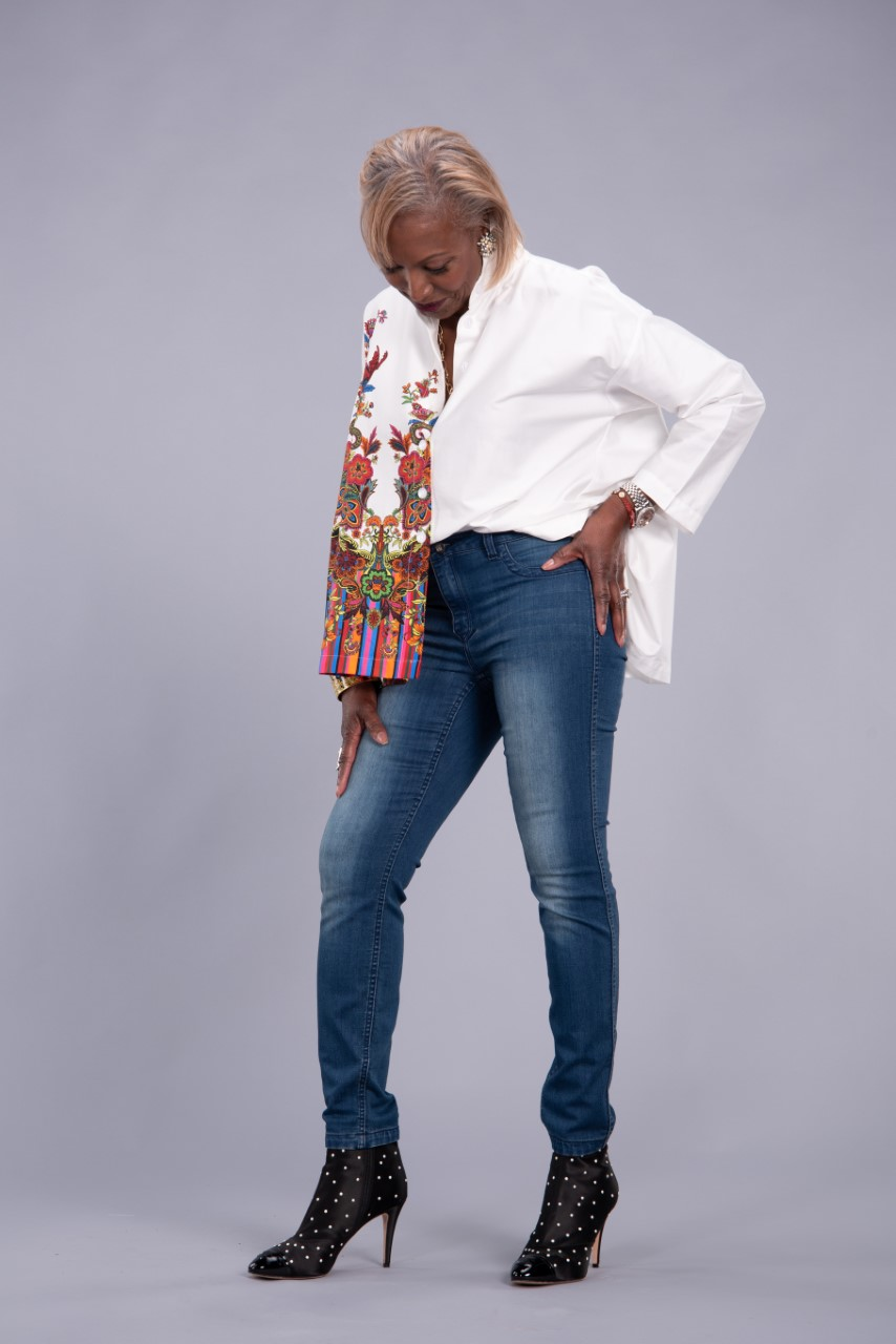 Women with Control Renee's Reversible Jeans