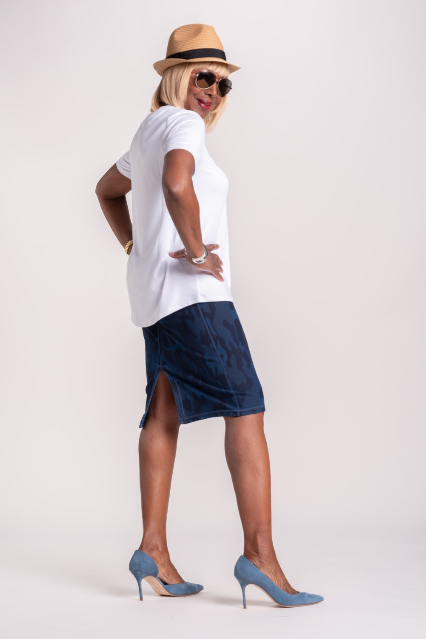 Women with Control Prime Stretch Denim Skirt