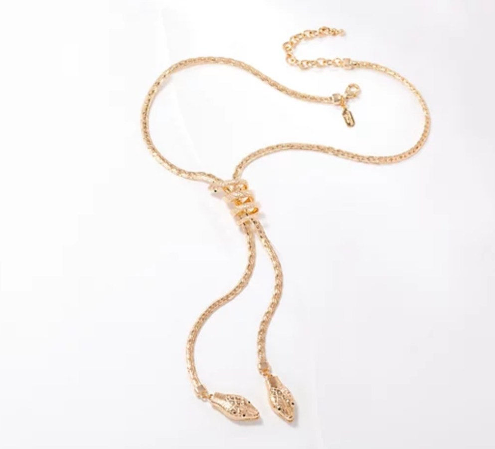 Lariat Necklace (goldtone 2)