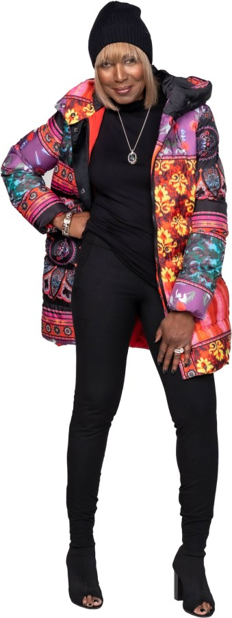 Shop This Look - Printed puffer with hood
