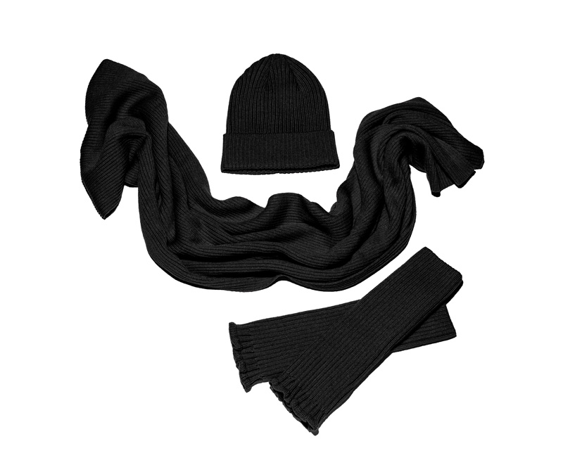 ATTITUDES by Renee Hat, Scarf, and Fingerless Glove Set