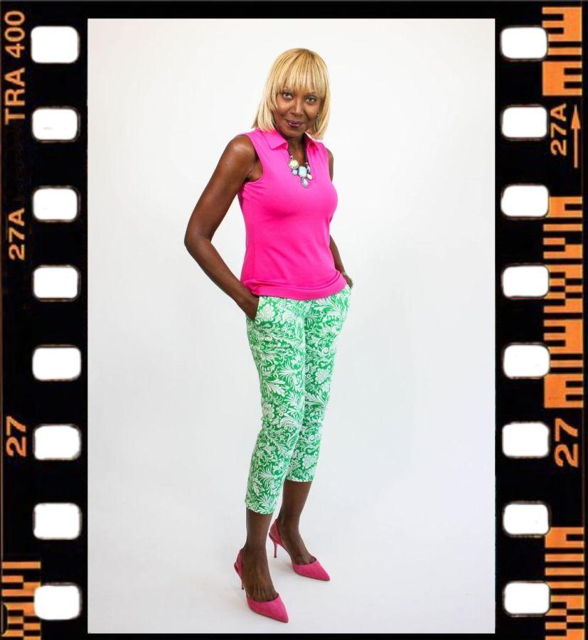 Pink top and Nina Waist Crop Pants
