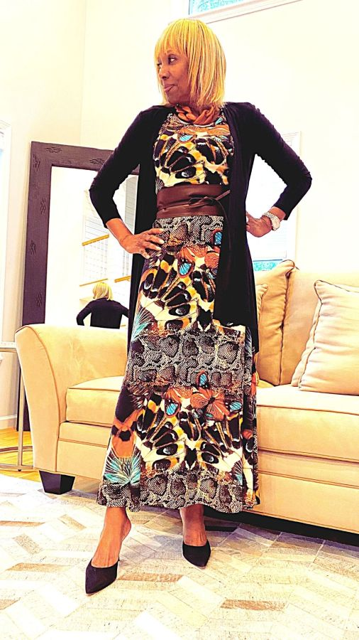Maxi Dress with Cardigan