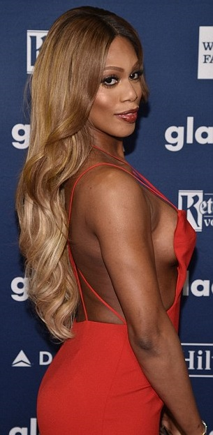 """Laverne Cox as """"woman"""" stereotype"""