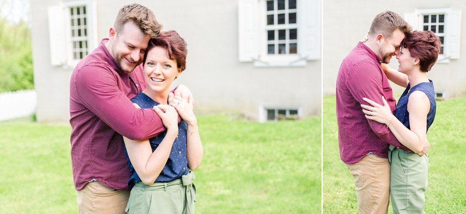 outdoor Bethlehem PA engagement session with Renee Nicolo Photography
