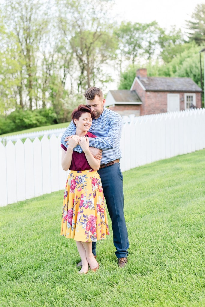 Bethlehem PA engagement session with retro vibe photographed by Renee Nicolo Photography