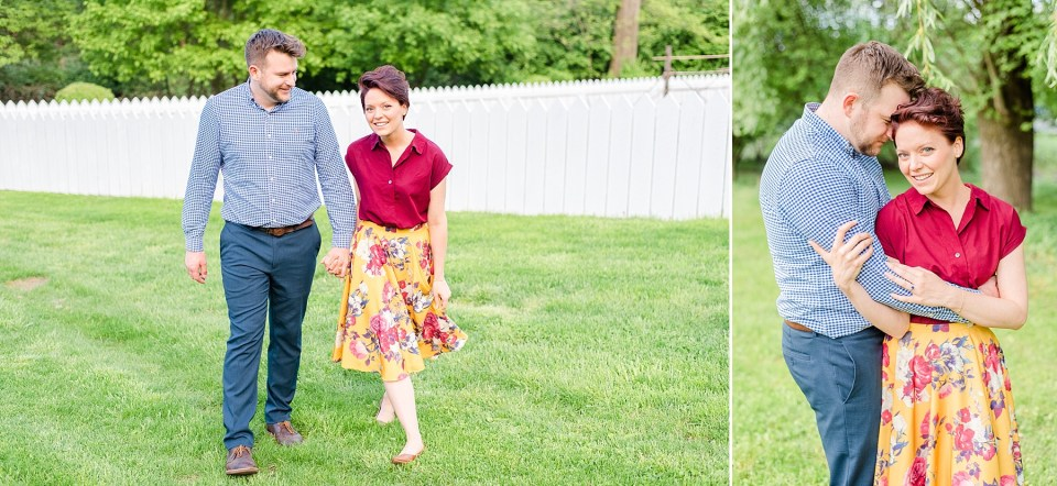 Bethlehem PA engagement session with vintage vibe photographed by Renee Nicolo Photography