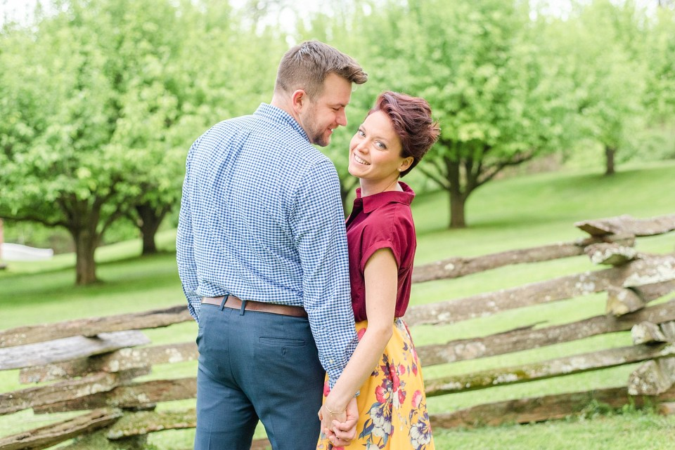 joyful spring engagement session with Renee Nicolo Photography