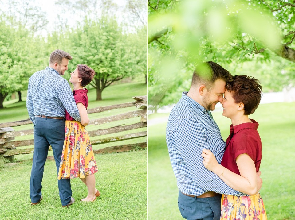engagement session under trees in Bethlehem PA by Renee Nicolo Photography