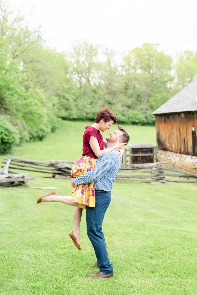 outdoor engagement session with Renee Nicolo Photography in PA