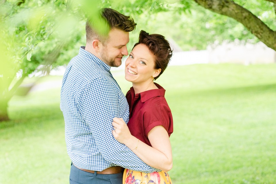 Pennsylvania wedding photographer Renee Nicolo Photography captures spring engagement session