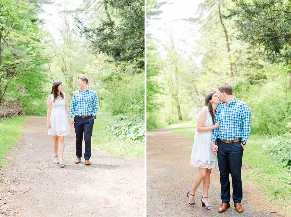 Ridley Creek engagement portraits with Renee Nicolo Photography