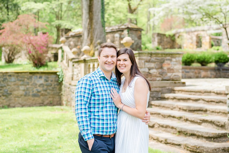 Engagement portraits at Parque at Ridley Creek with Renee Nicolo Photography