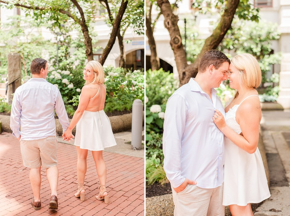 Center City summer engagement session with Renee Nicolo Photography