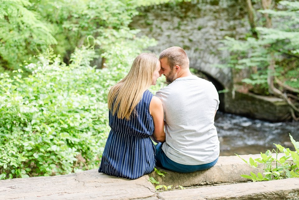 engagement portraits at the Creek with PA Wedding photographer Renee Nicolo Photography