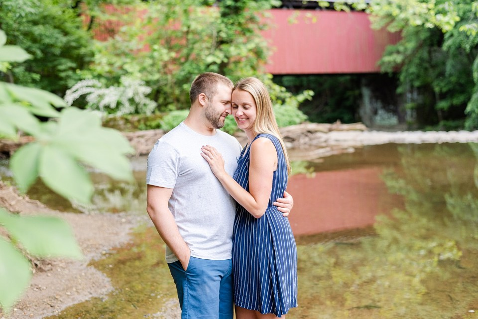 spring engagement session by Wissahickon Creek with Renee Nicolo Photography