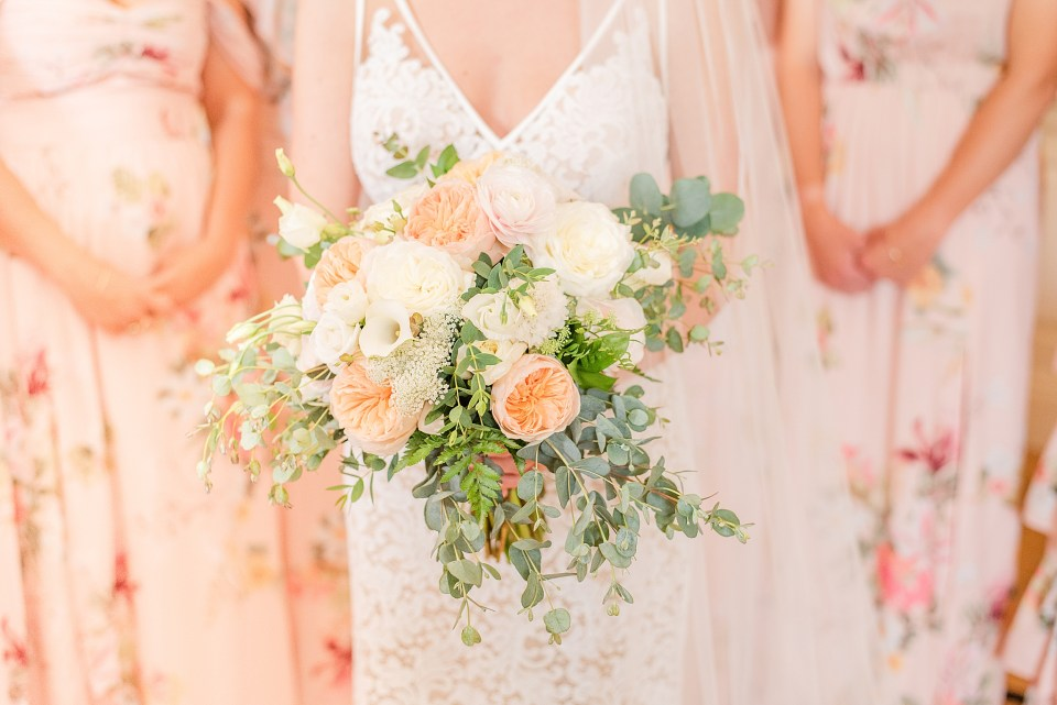bridal bouquet by Jessica Waxler for spring wedding photographed by Renee Nicolo Photography