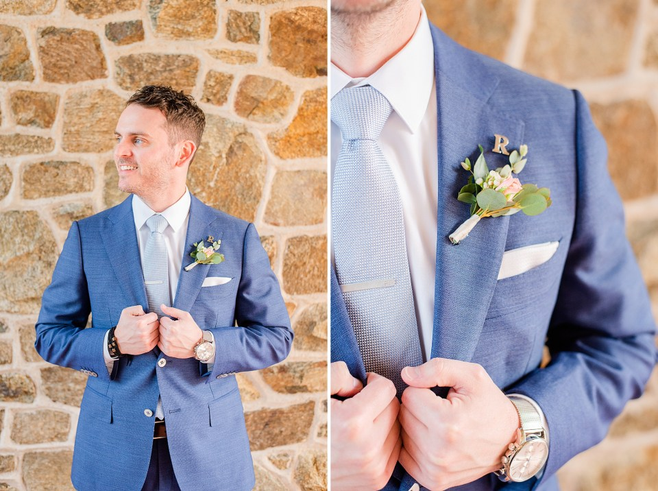 groom's portraits by Renee Nicolo Photography