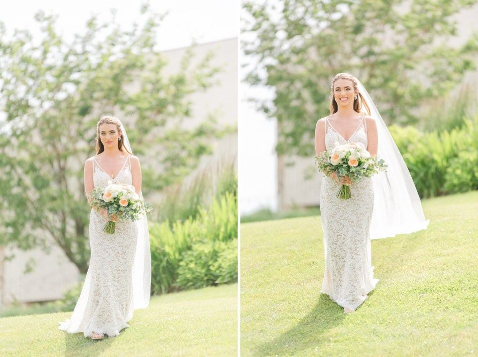 bride enters first look with Renee Nicolo Photography
