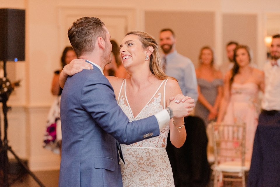 French Creek Golf Club wedding dances photographed by Renee Nicolo Photography