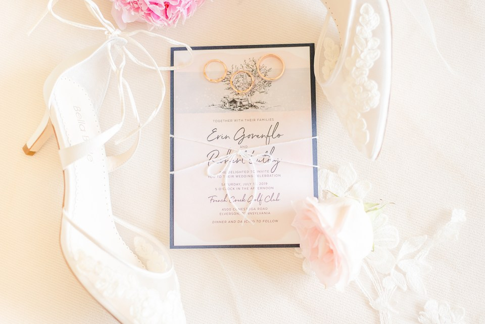 PA wedding photographer Renee Nicolo Photography captures wedding stationery