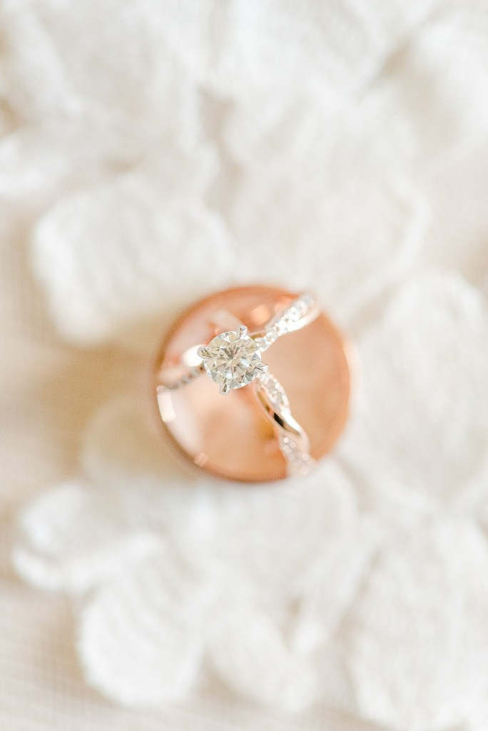 wedding rings photographed by Pennsylvania wedding photographer Renee Nicolo Photography