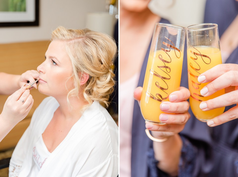 bride prepares for French Creek Golf Club Wedding day by Renee Nicolo Photography