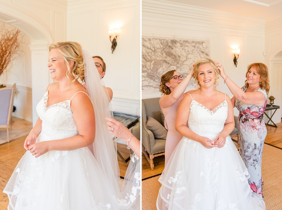 bride prepares for Chester County PA with Renee Nicolo Photography