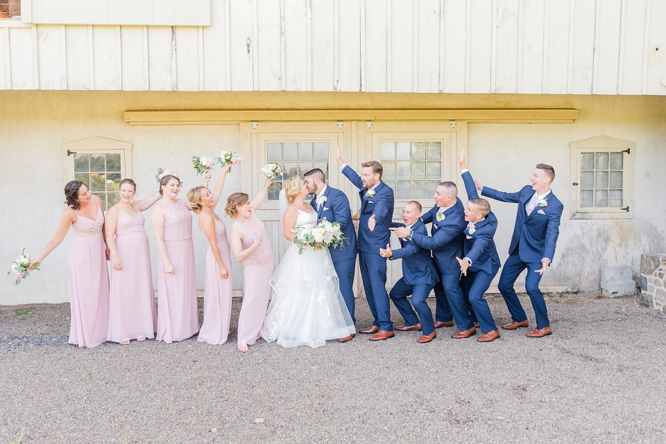 fun bridal party portrait by PA wedding photographer Renee Nicolo Photography