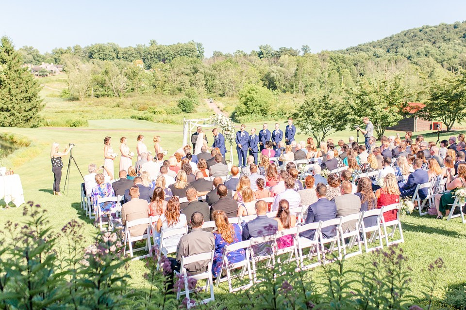 wedding ceremony at French Creek Golf Club with Renee Nicolo Photography
