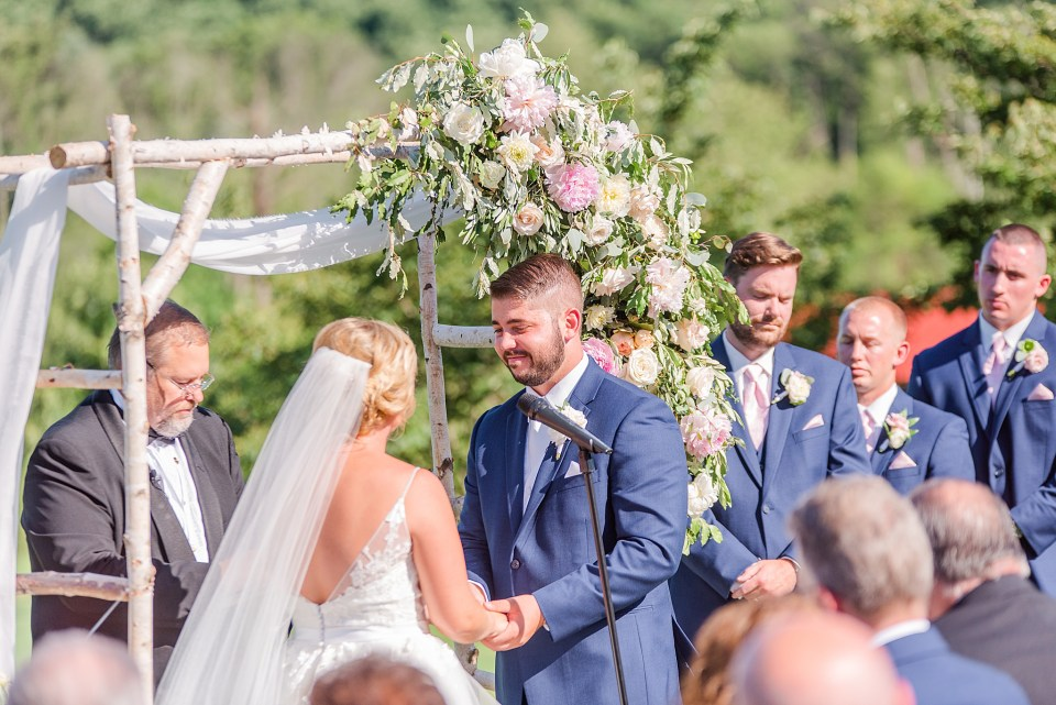 bride and groom vows photographed by Renee Nicolo Photography