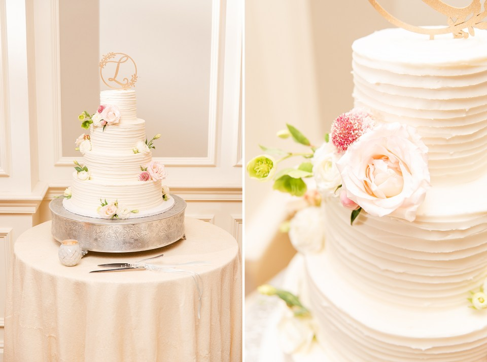 simple wedding cake photographed by PA wedding photographer Renee Nicolo Photography