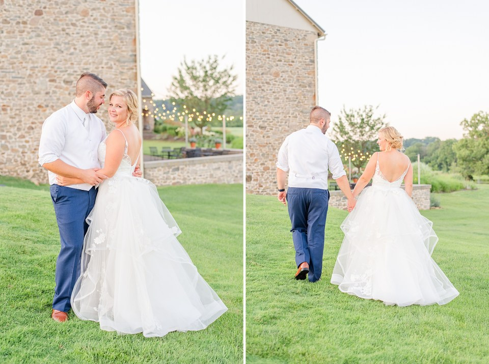 romantic summer wedding portraits photographed by PA wedding photographer Renee Nicolo Photography