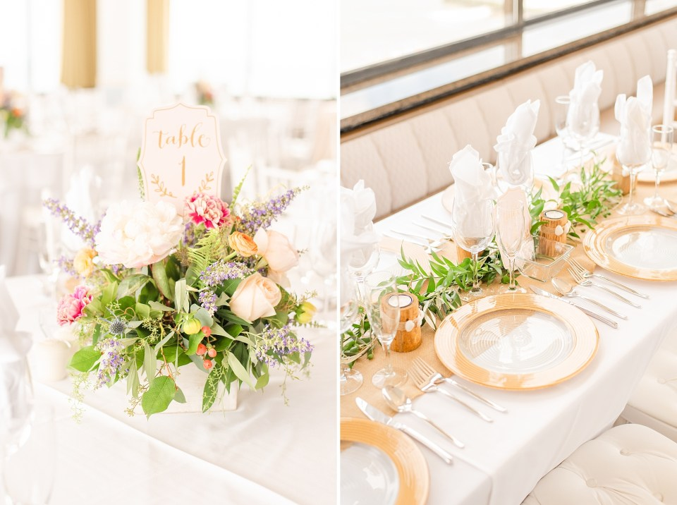 wedding reception details for Salero Oceanfront photographed by Renee Nicolo Photography