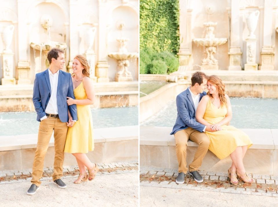 engagement portraits in Longwood Gardens by Renee Nicolo Photography
