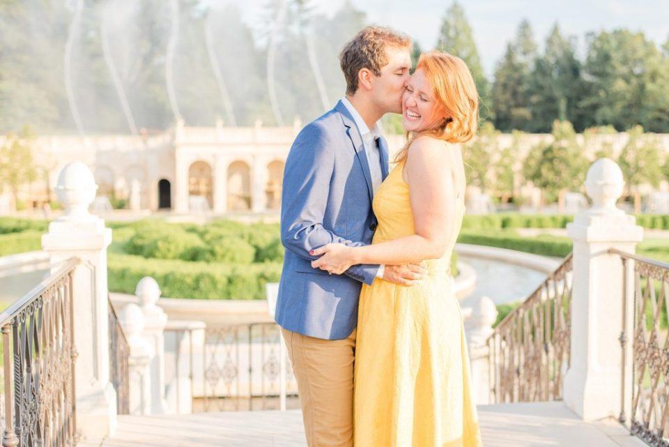 happy couple celebrates engagement session with Renee Nicolo Photography