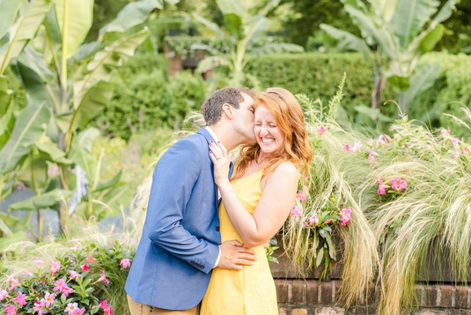 couple laughs during engagement portraits with Renee Nicolo Photography