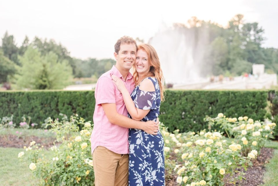 summer engagement session in Longwood Gardens with Renee Nicolo Photography